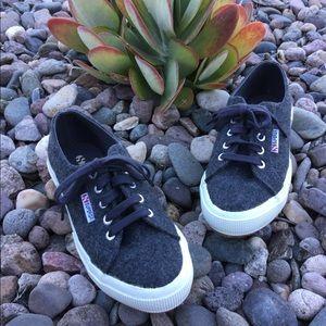 SUPERGA - Dark Gray - Wool / Polyester Sneakers